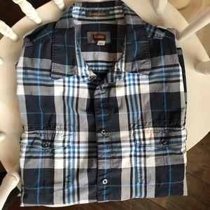 3/$15 Men's cotton short sleeve button down shirt